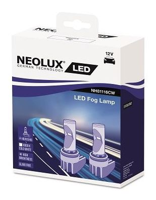 Автолампа H11/H8/H16 (PGJ19-X) LED COOL WHITE 6000K (2шт) 12V NEOLUX /1
